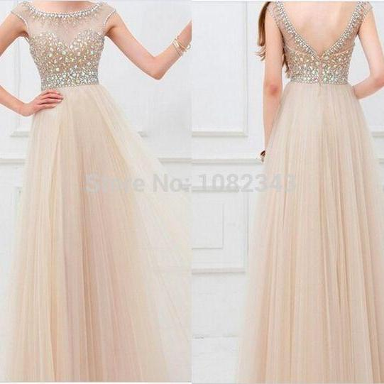 A-Line New Arrival Long Beading Real Made Christmas Dresses,Long Party Dresses,Prom Dresses